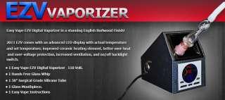 Easy Vape FULL LED CARBON FIBER BODY Digital Vaporizer Free Poker Chip