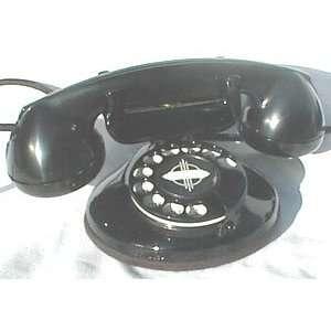 Art Deco Black Phone (Reproduction)