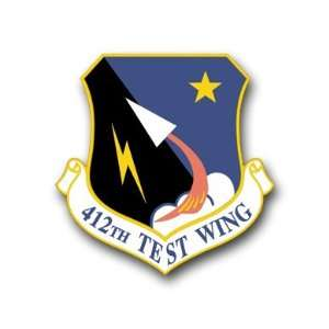 US Air Force 412th Test Wing Decal Sticker 3.8 6 Pack