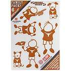 Texas Longhorns Family Decals 6 Pack (NEW) UT NCAA Auto Car Stickers