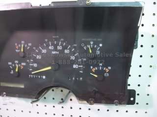 Instrument Cluster Speedometer Gauges Chevy GMC Pickup Truck