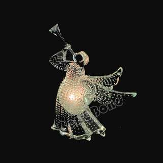 Sucker LED LIGHTED CHRISTMAS Xmas gift ANGEL WITH HORN New