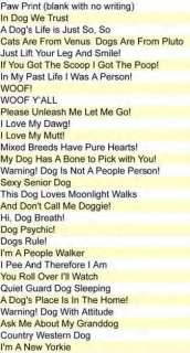 Humorous Paw Print Dogs Rule Car / Fridge Magnet New