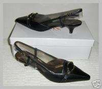 Womens Anne Klein Sling Back Pump 8 M Black NIB $90