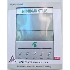 STATE SPARTANS Collegiate Digital Atomic Clock: Sports & Outdoors