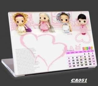 Universal Notebook Laptop Skin Cute Kawaii Dolls Pink