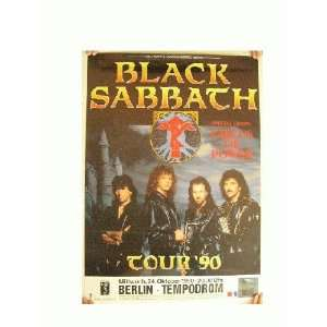 Black Sabbath Concert Tour Poster Tommi Iommi German