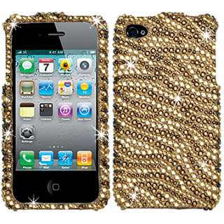DIAMOND BLING CRYSTAL FACEPLATE CASE COVER APPLE IPHONE 4 4S