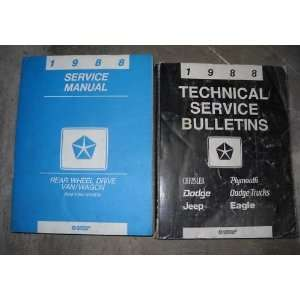 1988 Dodge Ram Van Wagon Service Repair Shop Manual SET (service