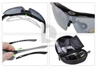 Riding Bicycle Bike UV400 Sports Sun Glasses Eyewear Goggle 5 lens set