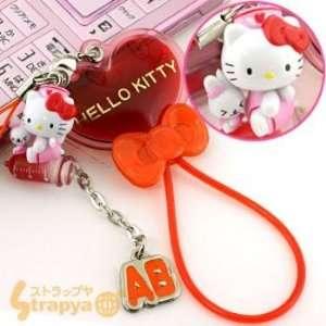 Hello Kitty Angel Nurse Cell Phone Strap (Blood Type AB) Electronics