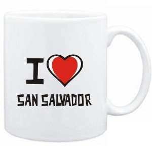 Mug White I love San Salvador  Cities: Sports & Outdoors