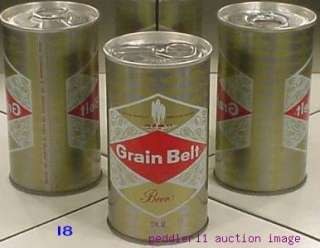 GRAIN BELT BEER old S/S CAN  enamel gold version // MINNEAPOLIS