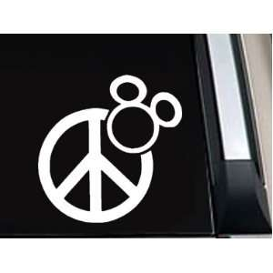 Mickey Mouse Peace Sign Vinyl Decal Sticker  SM0003  5L x