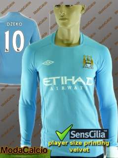 Jersey Shirt Umbro Manchester City tg Long Sleeves Light Blue 2010