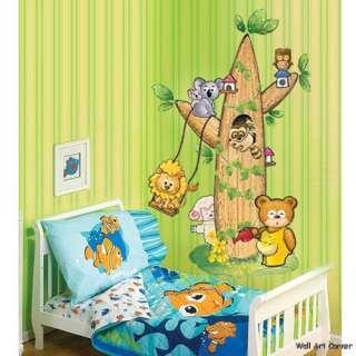 Forrest Animals & Tree Kids Wall Art Deco Sticker Decal