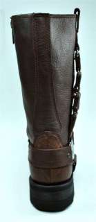 HARLEY DAVIDSON Quad Brown Leather Men Size Motorcycle Rider Boots