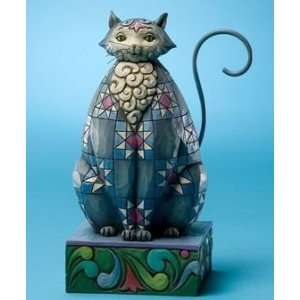 Enesco Jim Shore Knightly Grey Kitty Cat Figurine