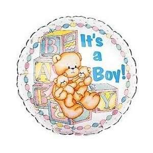 Its a Boy Bear Foil Balloon