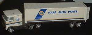 Vintage Napa Tractor Trailer Metal Truck Idles & Horn