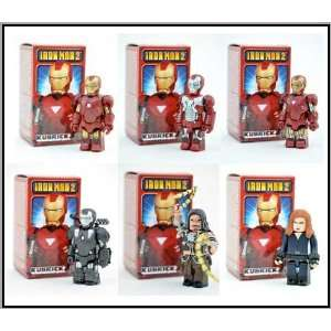 Medicom Marvel Iron Man 2 Kubrick Set of 6 Toys & Games