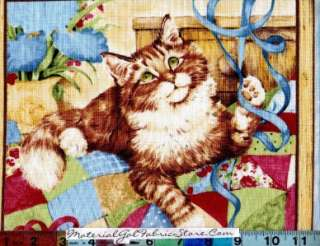 SSI Quilting Purr fection Fabric ~ Kitty Cat Panel