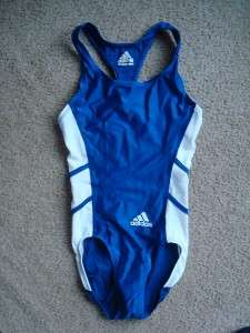 55 NWT ADIDAS track & field running training leotard blue leo gym