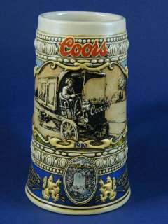 Coors 1989 Annual Ceramic Beer Stein 1910 Beer Truck