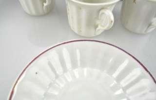 Lot(8) Antique KPM & TPM Porcelain Cup and Saucer Sets c1840 1895