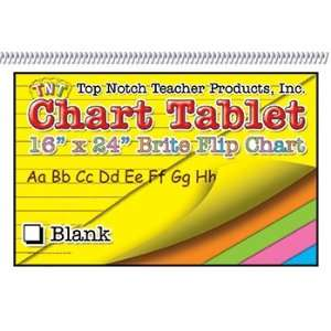 8 Pack TOP NOTCH TEACHER PRODUCTS CHART TABLETS 16X24