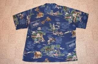 XXL HAWAIIAN shirt TIKI Hula Motorcycle TORI RICHARDS SWEET