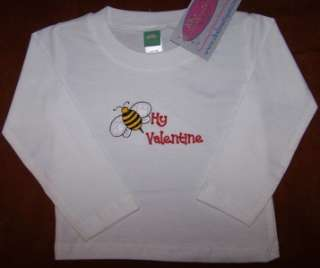 Cute Valentines Day Bumble Bee Long Sleeve Baby Toddler Shirt