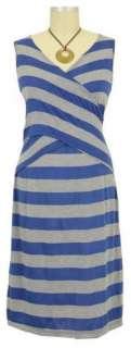 New JAPANESE WEEKEND Maternity X Front Stripes NURSING DRESS Cross V