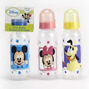Wholesale, 12 Mickey Mouse, Minnie Mouse, and Pluto 9oz. Bottles, For