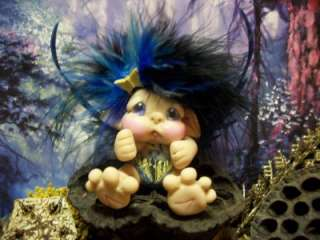 Butterfly Trollie Elf Fairy Ooak Troll Pixie Sculpt Art Doll by