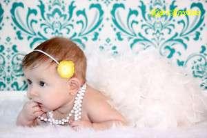 Baby Girls Flower Dress Headband Skinny Headband Bow