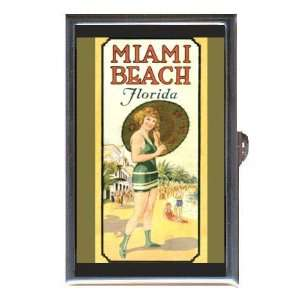 Miami Beach, Florida Vintage Ad Coin, Mint or Pill Box