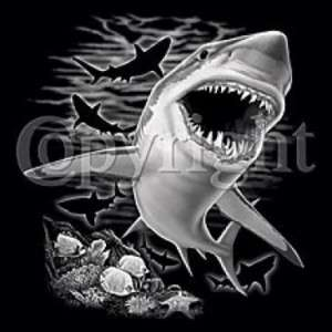 SHIRT   BEACH   Great White Shark   SM XL