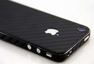 Carbon Fiber Black Full Body Wrap for iPhone 4 / 4S / CDMA