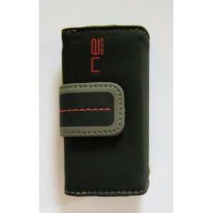 Belkin iPod Nano Leather Folio Case, Black/Gray/Red