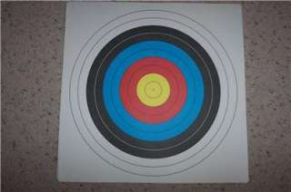 Special Bright Multi Color Archery Single Spot Target Faces Pack of 8
