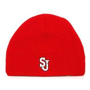 St. Johns Red Storm Ezedozit Knit Team Color Hat: Sports