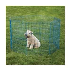 Metal Crate Appeal Color Dog Exercise Pen, Small, 24 Inch, Blue Splash