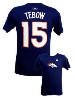 Denver Broncos Tim Tebow logo T shirt Navy Reebok