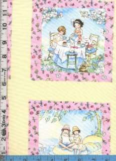 Fabric Timeless FOREVER FRIENDS SISTERS PANEL pastel