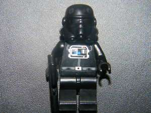 RARE LEGO STAR WARS TIE FIGHTER PILOT MINIFIGURE & GUN
