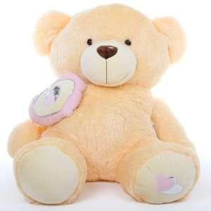 Honey Pie Big Love Huge Cuddly Butterscotch Cream Teddy