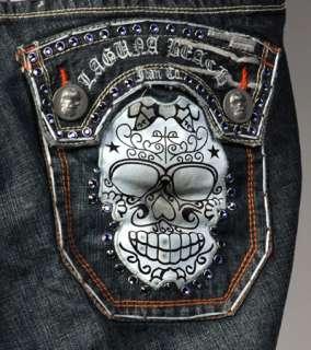 Laguna Beach Jeans Mens HUNTINGTON Baby Blue w/ 1G Crystals *SAMPLE