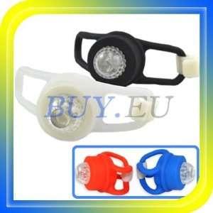 bicycle bike silicone head rear wheel led flash light