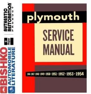 1954 PLYMOUTH BELVEDERE PLAZA SAVOY Service Manual CD
